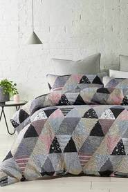 PHASE 2 Hadspen Soft Touch Quilted Microfibre Quilt Cover Set QB
