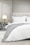 FLORENCE WAFFLE QUILT COVER SET QUEEN BED