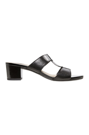 EASYSTEP Daisy Metal Trim Leather Slide