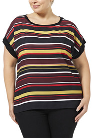 KHOKO COLLECTION Muriel Stripe Top    Plus Size