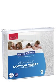 PROTECT A BED Waterproof Terry Mattress Protector Db