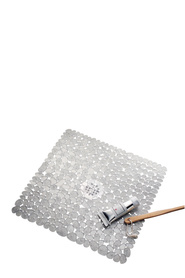 INTERDESIGN Clear Pebblz Square Shower Mat