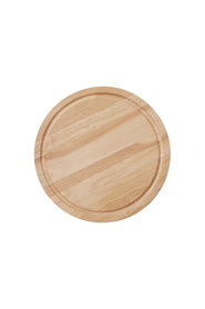 S+n rubberwood rnd chopping board 42x4cm