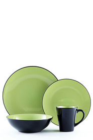 SOREN Osaka 16pc Green Dinnerset