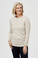 SOFT TOUCH JUMPER WITH SLEEVE DETAIL