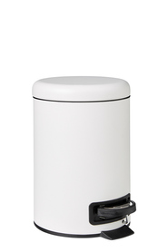 STORE & ORDER Loft Semi Dome Top Pedal Bin White