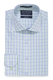 VAN HEUSEN BLUE AND GREEN CHECK SHIRT