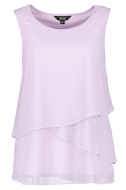 SIMPLY VERA VERA WANG Assymetric Detail Shell Top
