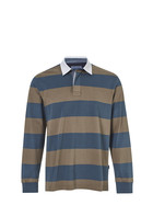JC LANYON Mens Block Stripe Rugby Top