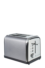 SMITH & NOBEL 2 Slice Toaster Metallic Grey