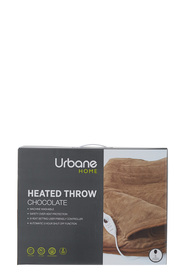 URBANE HOME Urbane Home Heated Throw Chocolate 160x130cm