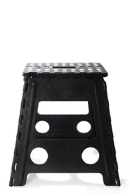 IS GIFT Folding Stool Black with White Dots