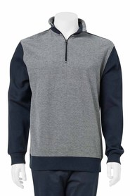 BRONSON Box Stitch Jersey Fleece Top