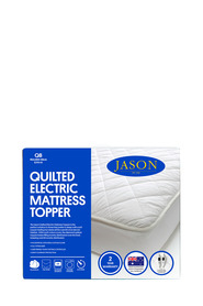 JASON Quilted Electric Mattress Topper Queen Bed