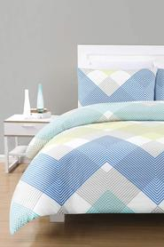 URBANE HOME Logan 225 Thread Count Polyester/CottonQuilt Cover Set DB
