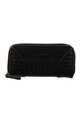 MILLENI STITCH ZIP AROUND WALLET, BLACK