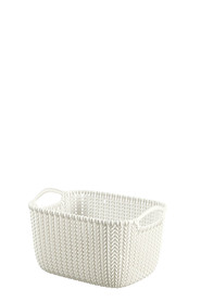 CURVER Knit Rectangular Basket Cream Small
