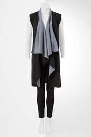 SIMPLY VERA VERA WANG Two Tone Knit Vest