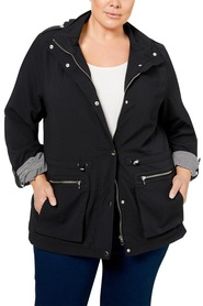 KHOKO PLUS Textured Lightweight Jacket With Hood