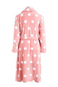 SASH & ROSE PRINT FLEECE GOWN, BLUSH, XS