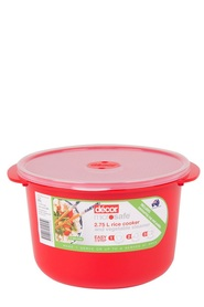 DECOR Microsafe Microwavable Rice Cooker 2.75L