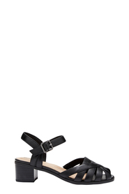 HUSH PUPPIES KAYLA PEEP TOE STRAP HEEL