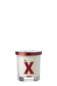 MOZI Glass Vanilla Alphabet Candle Letter X