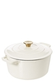 SMITH & NOBEL Traditions 5L Cast Iron Casserole Almond Gold