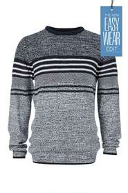 URBAN JEANS CO Engineered Chest Block Stripe Knit
