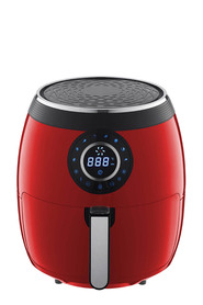 SMITH & NOBEL 5L Digital Air Fryer Red + Pan