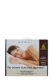 KINGDOM Kingdom Tie Down Electric Blanket Single