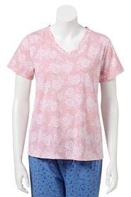SASH & ROSE Soft short sleeve V neck sleep tee