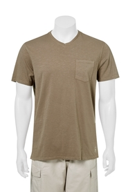 WEST CAPE CONTEMPORARY ANTIQUE SLUB V-NECK TEE
