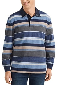 BACK BAY Long Sleeve Cotton Rugby Shirt