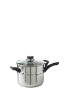 SMITH & NOBEL Traditions Stainless Steel 2 Tier Steamer Set 20cm