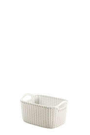 CURVER Knit Rectangular Basket Cream XS