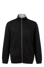 BRONSON SOLID FRENCH RIB ZIP THRU TOP