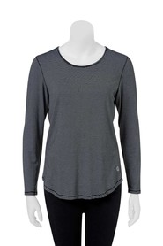 LMA ACTIVE Long Sleeve Stripe Stretch Tee