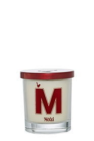 MOZI Glass Vanilla Alphabet Candle Letter M