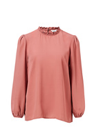 KHOKO SMART Pleated Neck Detail Blouse