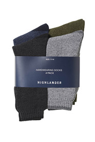 HIGHLANDER 4 Pack Terry Casual Sock