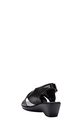 HUMAN MID WEDGE CROSS SANDAL, BLACK, 37