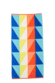 SOREN Triangles Velour Beach Towel