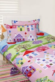 HAPPY KIDS Lovely House Glow in the Dark Quilt Cover Set DB