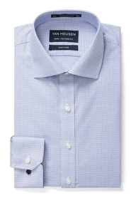 VAN HEUSEN BLUE CHECK SHIRT