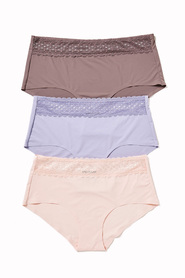 SASH & ROSE Bonded Lace Waist 3pk Full Brief