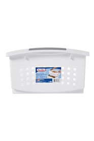 STERILITE Large stack basket white