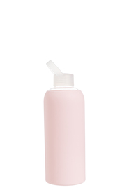 SMITH & NOBEL Glass Silicon Wrap Bottle 1L Pink
