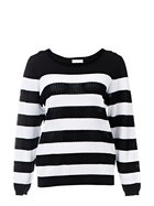 KHOKO COLLECTION Lightweight Stripe Knit Pullover