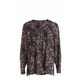 SIMPLY VERA VERA WANG PRINTED PIN TUCK BLOUSE